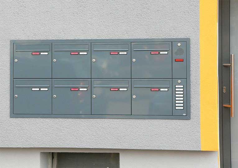 Unterputz Briefkastenanlage