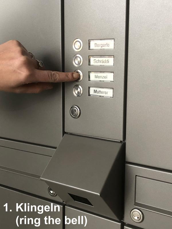 """Parcel-Box Paketbriefkasten Paketkasten - Briefkasten Kombination """"pafory"""" Schritt 1: Klingeln"""