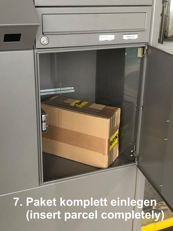 Parcel-Box plus Briefkasten Schritt 7: Paket komplett einlegen
