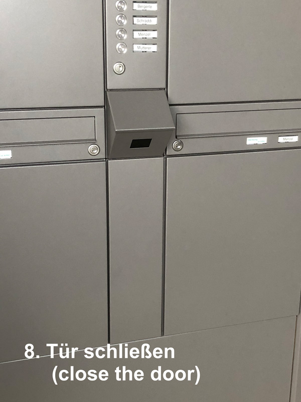 """Parcel-Box Paketbriefkasten Paketkasten - Briefkasten Kombination """"pafory"""" Schritt 8: Tür schließen"""