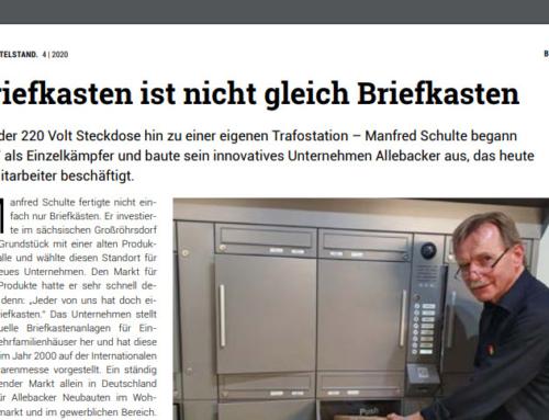 BVMW Der Mittelstand: Allebacker Schulte Briefkästen aus Großröhrsdorf