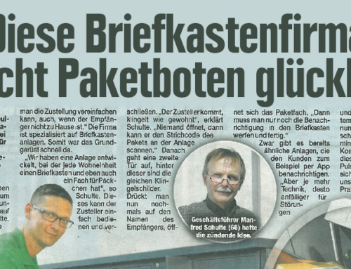 "Morgenpost: Allebacker Brief-Paketkasten Kombination ""Pafory"""
