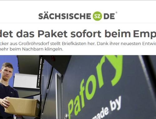 """Sächsische Zeitung: Allebacker Brief-Paketkasten Kombination """"Pafory"""""""