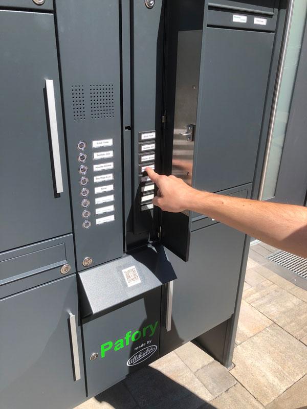 """Parcel-Box Paketbriefkasten Paketkasten - Briefkasten Kombination """"pafory"""" Schritt 4: Erneut Klingeln"""