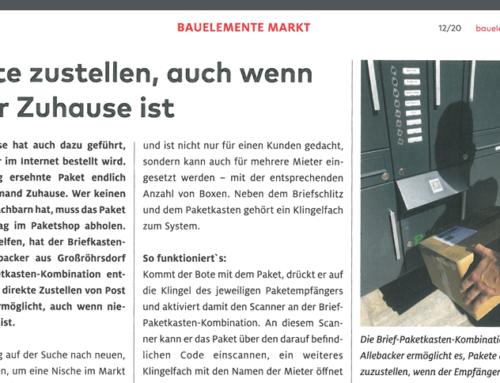BAUELEMENTE MARKT: Pakete zustellen, auch wenn keiner Zuhause ist